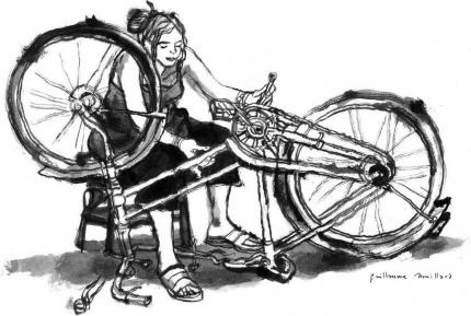 bordeaux,recuperation,déchets,vélo