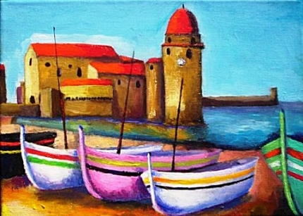 collioure,pyrénées orientales,mer,port,espagne,poésie
