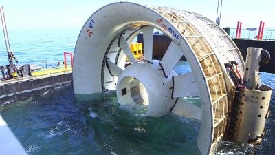 hydrolienne,énergies renouvelables,électricité,environnement,bretagne,paimpol,marées,océans